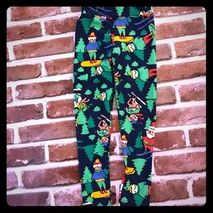 New LulaRoe Christmas leggings S/M